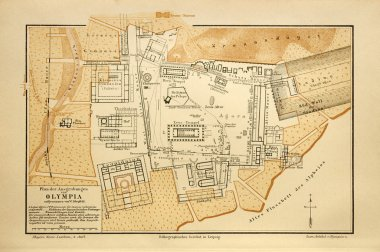 Old map of Olympia