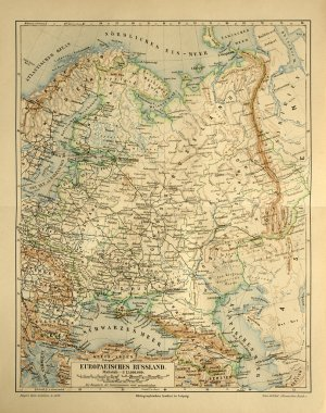 Old map of European Russia