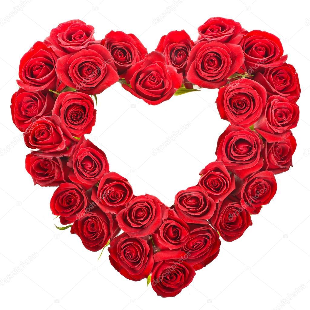 bouquet de roses rouges isol sur fond blanc en forme de coeur photographie vanazi 27606115. Black Bedroom Furniture Sets. Home Design Ideas