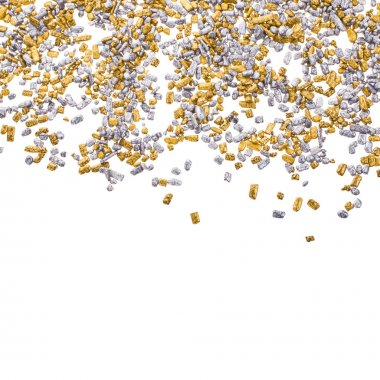 Gold and silver grains of small size