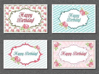 Set of invitations card clip art vector