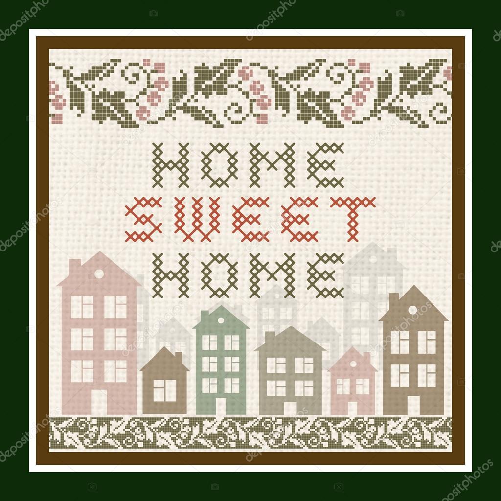 Home Sweet Home Vintage home sweet home vintage background — stock vector © ankapylemet