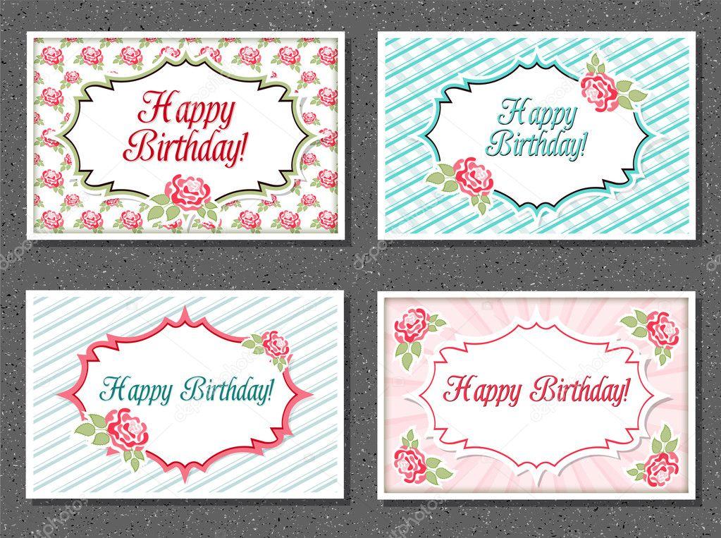 set of invitations card — stock vector © ankapylemet 28103983