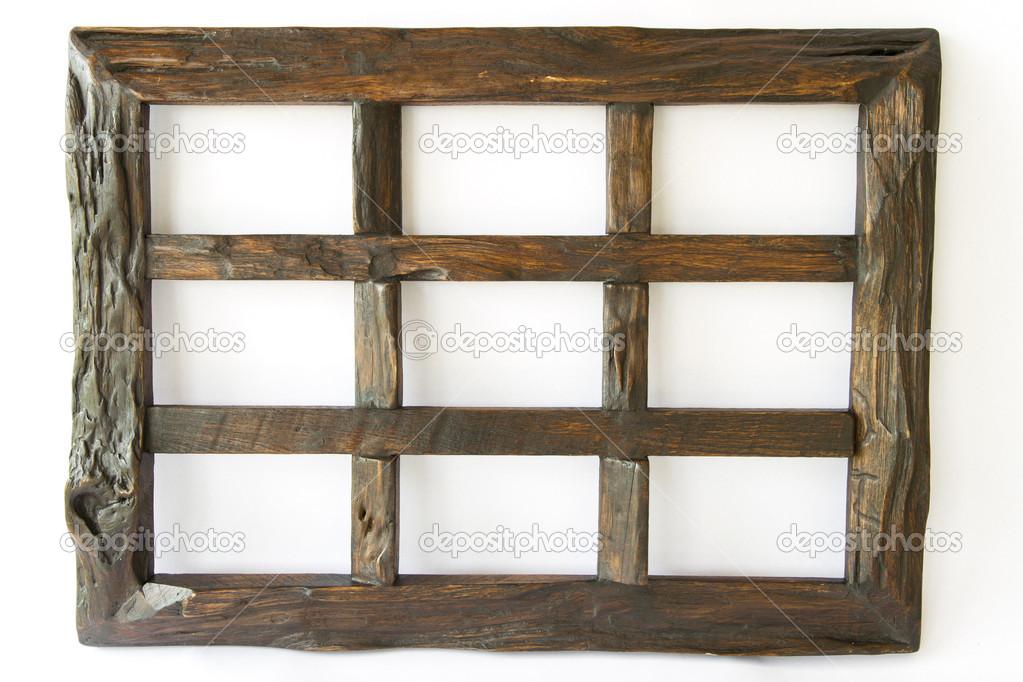 marco de fotos madera oscura — Fotos de Stock © ampolsonthong #33125759