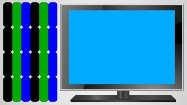 RGB aditivní barevný model animace