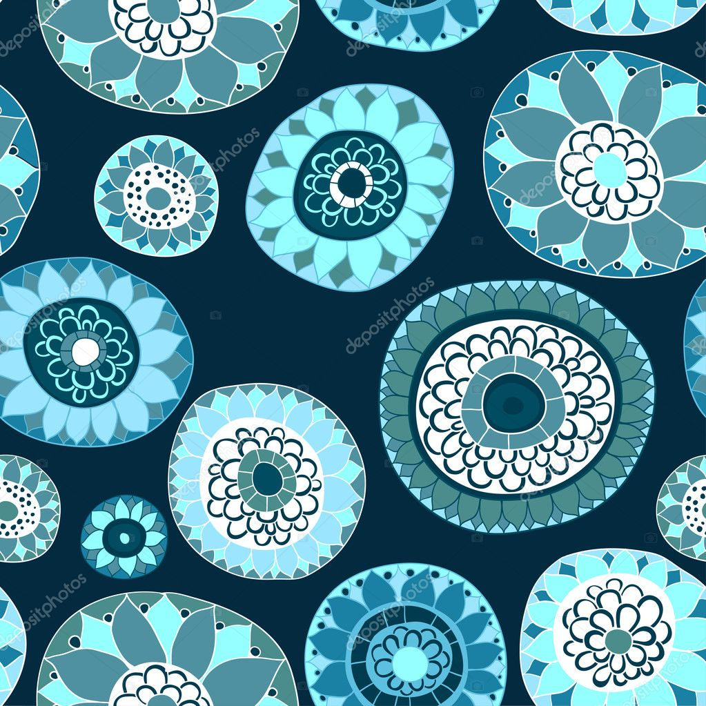 Ornate floral seamless texture,