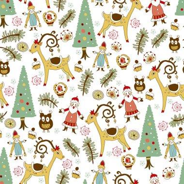 Christmas card.Vector illustration.