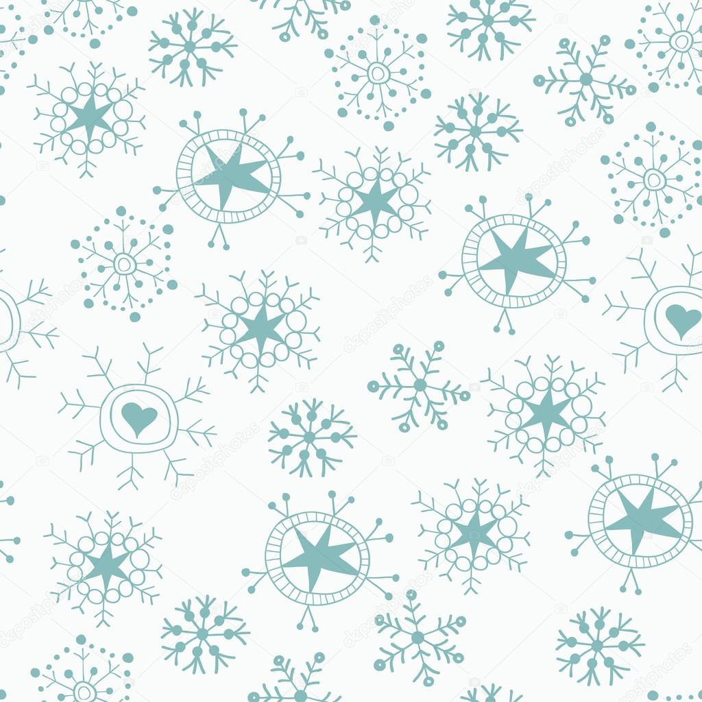 motif sans soudure en no l bleu sur blanc les flocons de neige image vectorielle pictulandra. Black Bedroom Furniture Sets. Home Design Ideas