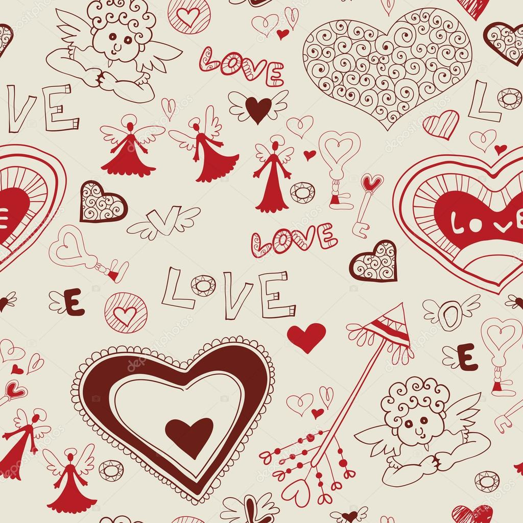 Valentine's day lovely seamless texture