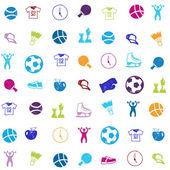 Vektorové světlé sportovní ikony nastavit