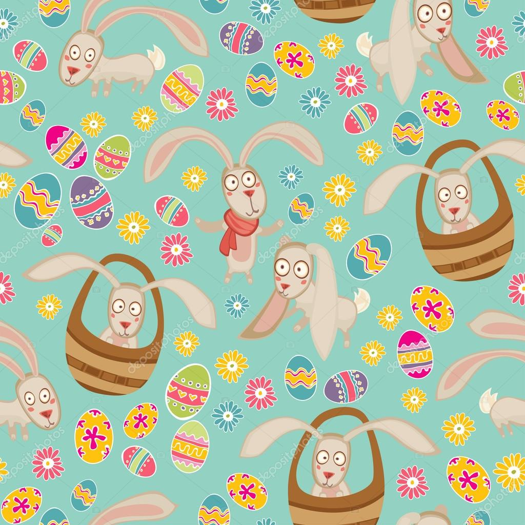 Easter cute pattern with bunny