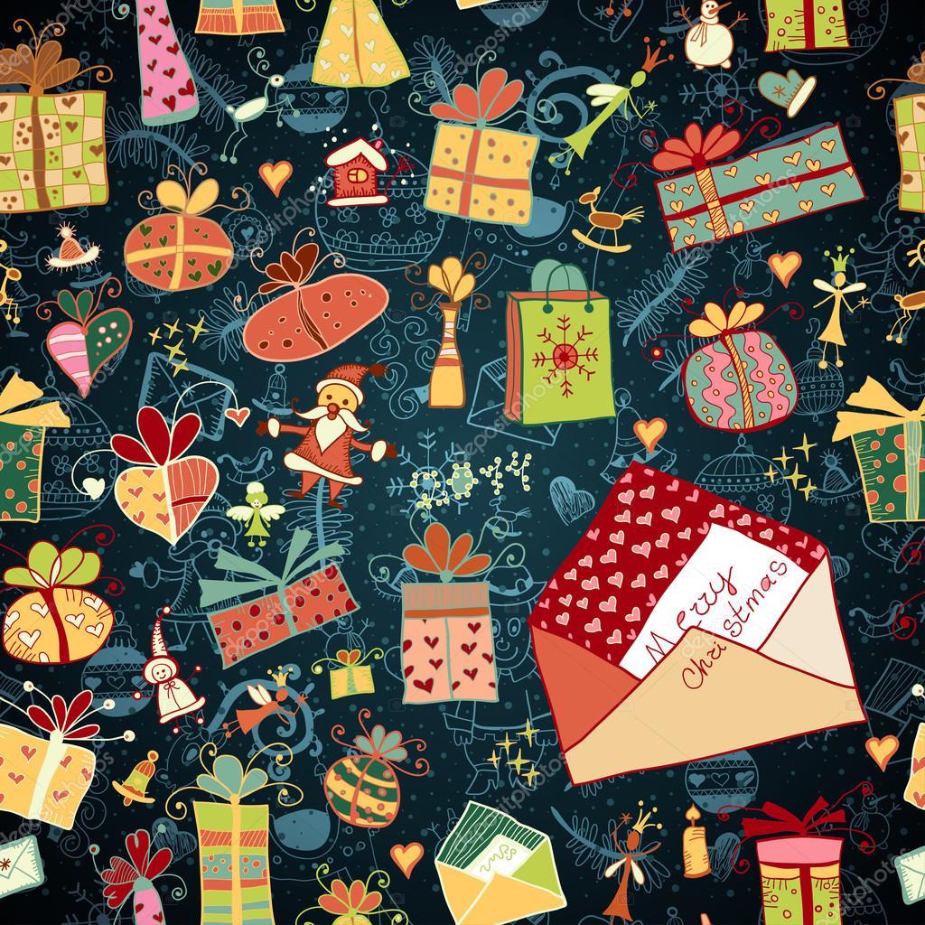 Weihnachten Hintergrund mit Geschenkboxen — Stockvektor ...