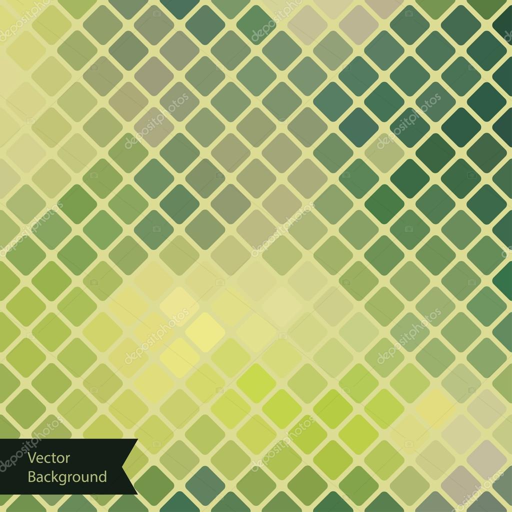 Green Geometric background in retro style