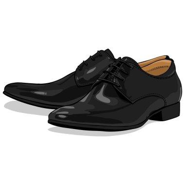 Vector classic black men shoes