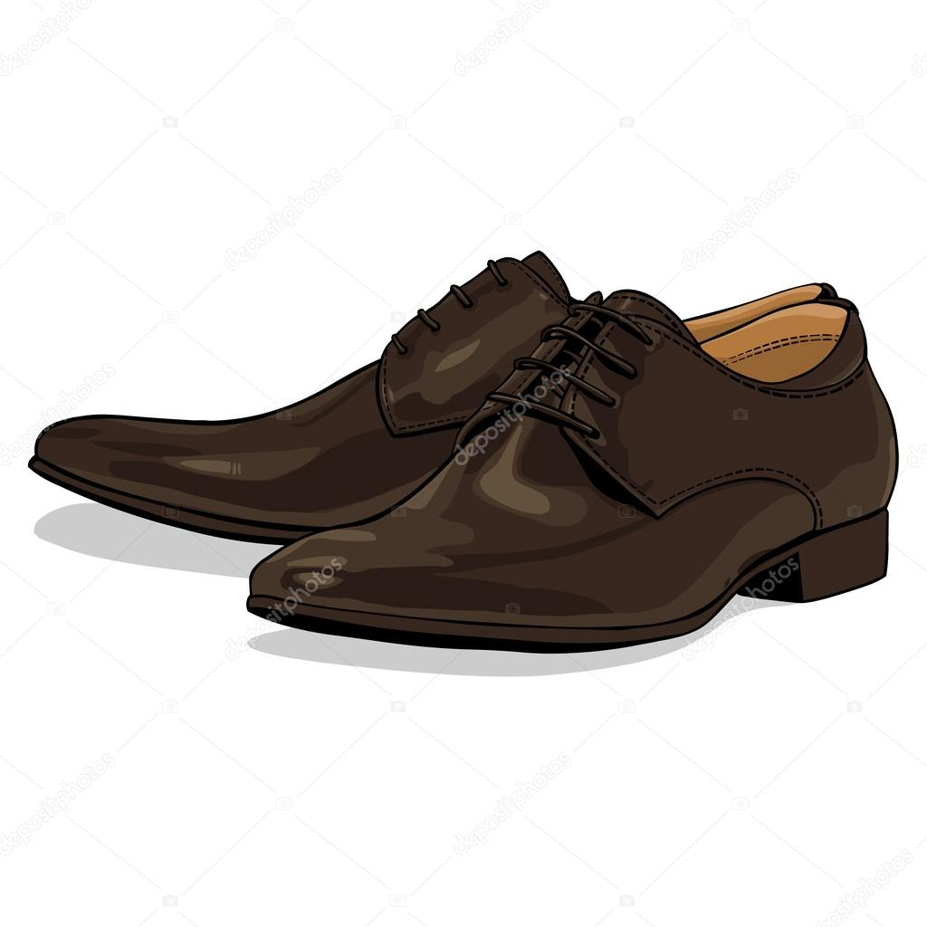 clásico zapatos hombres hombres clásico zapatos hombres marrón marrón Vector Vector clásico zapatos Vector marrón gwxO88