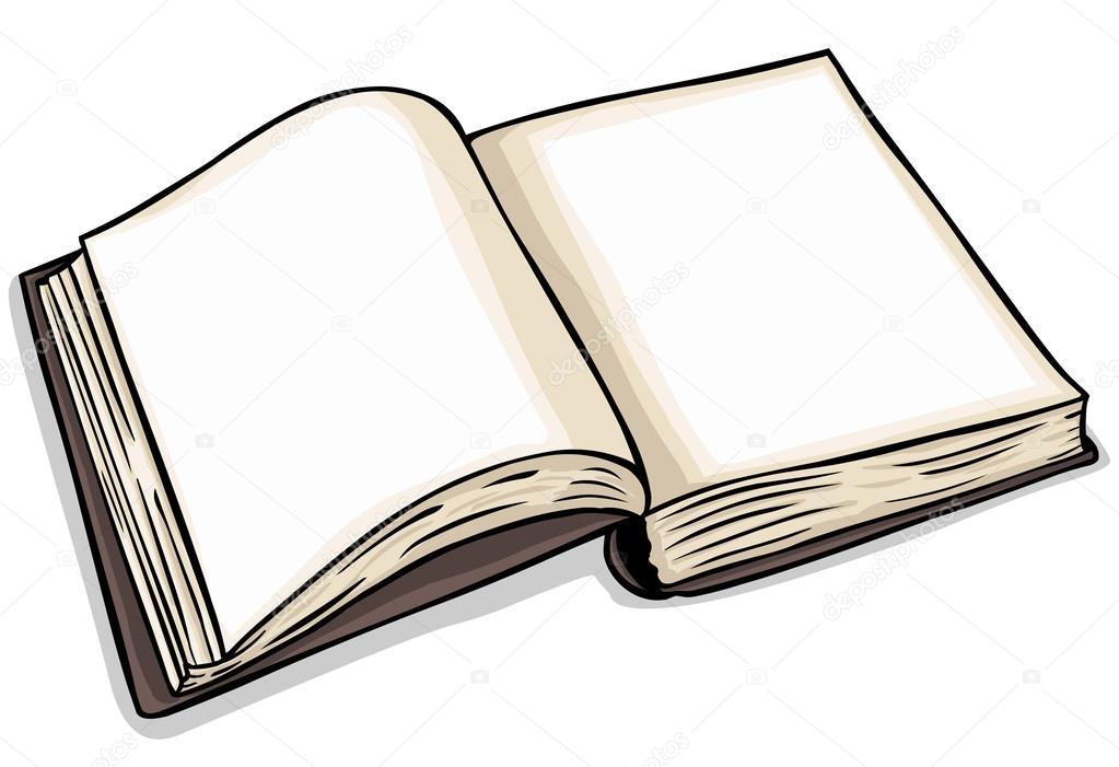 Libro Abierto En Blanco Vector