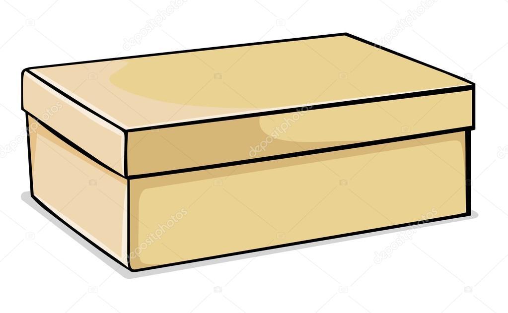 vektor schuhkarton mit deckel stockvektor 27799535. Black Bedroom Furniture Sets. Home Design Ideas