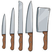 vektor készlet Konyhai kések