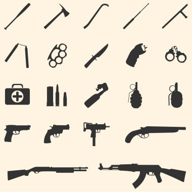 Vector weapon icons