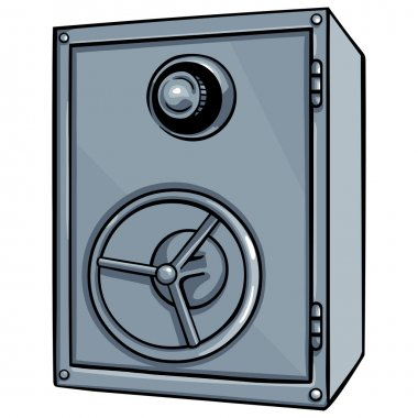Vector cartoon safe