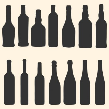 Vector bottles icons set