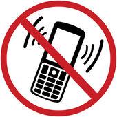 Vektor znamení: vypněte váš mobilní telefon