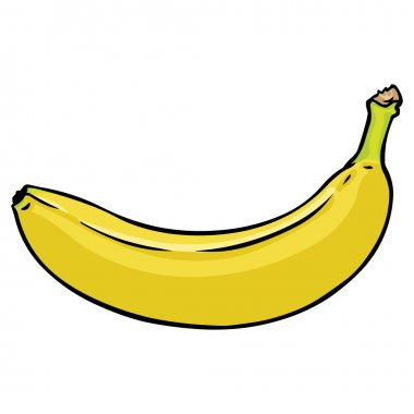 Vector cartoon banana
