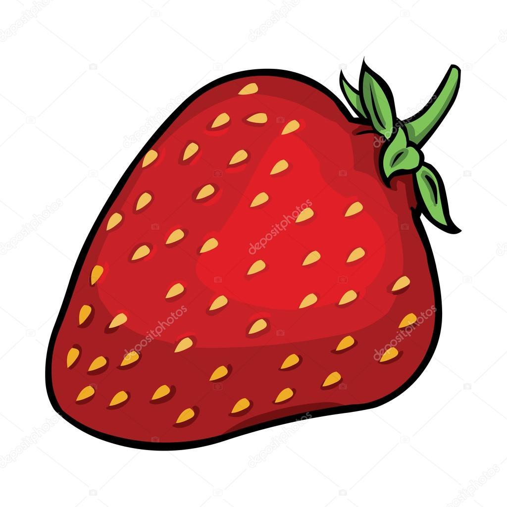vector cartoon strawberry stock vector nikiteev 31213253 rh depositphotos com strawberry vector art strawberry vector art