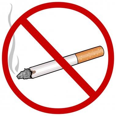 Vector cartoon sign: no smoking