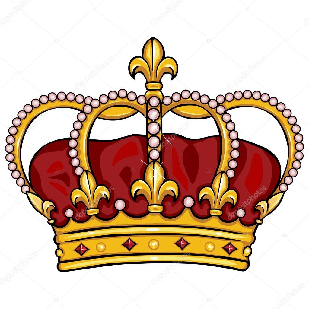 Vector cartoon royal crown — Stock Vector © nikiteev #32284831