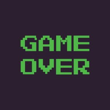 Vector pixel message: game over