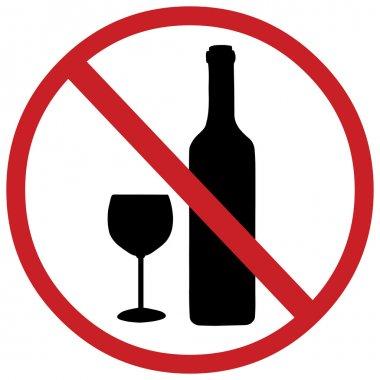 Vector sign: no alcohol