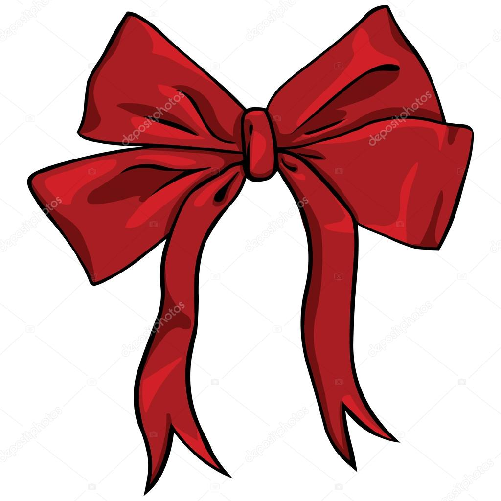 Vector cartoon red bow — Stock Vector © nikiteev #33502819