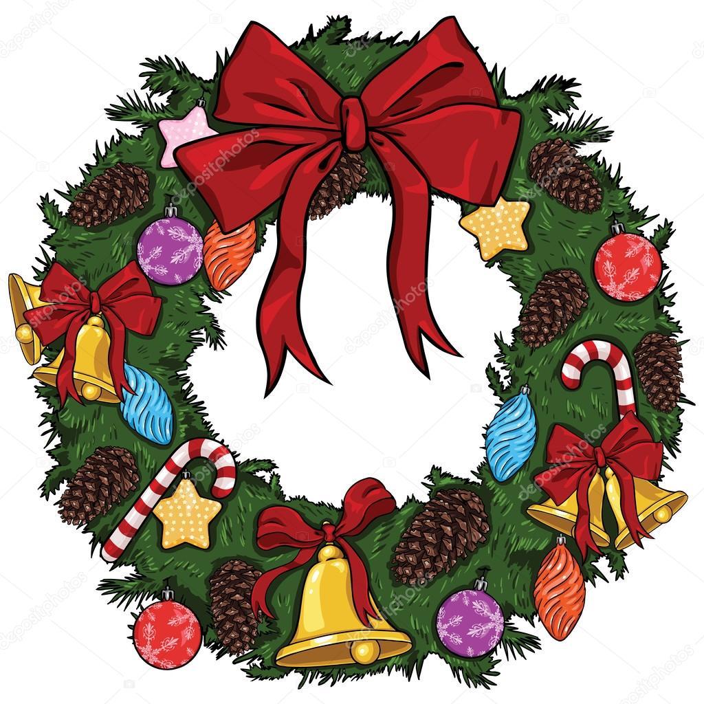 Bildresultat för julkrans tecknad