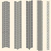 Fotografie Vektor-Satz von 5 Reifenspuren