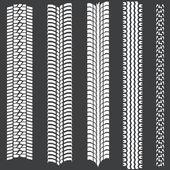Fotografie Vektor-Satz von 5 weiße Reifenspuren
