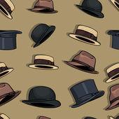 Fotografie nahtlose Muster Hüte