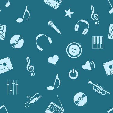Vector seamless music pattern