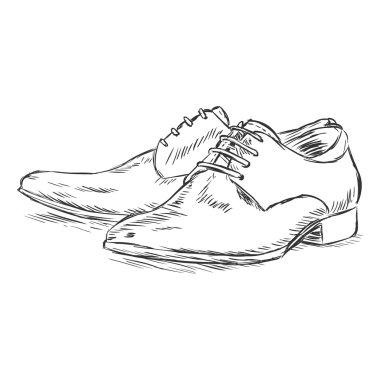 Vector sketch illustration - men's shoes
