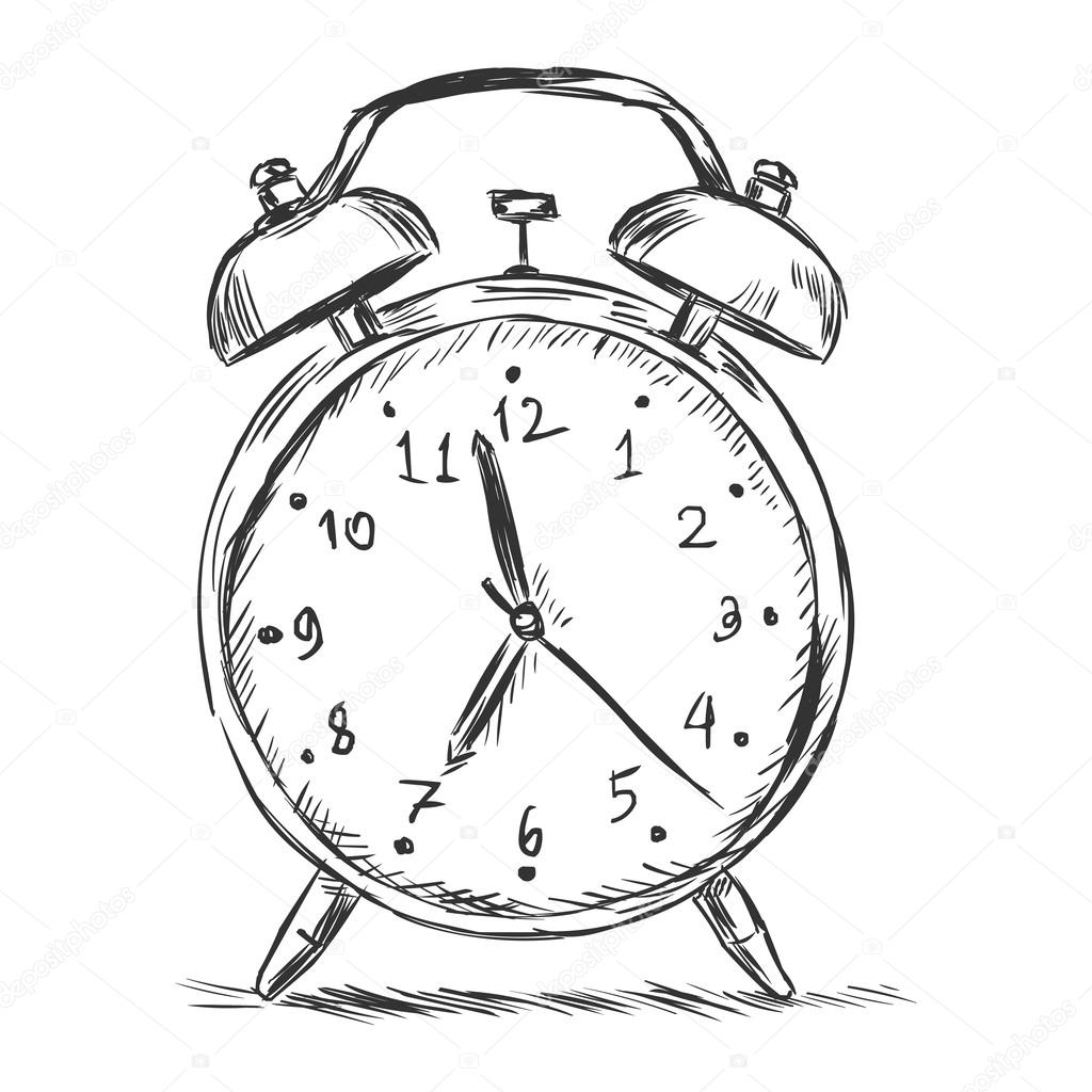 vector sketch illustration alarm clock stock vector nikiteev Old Alarm Clock vector sketch illustration alarm clock stock vector
