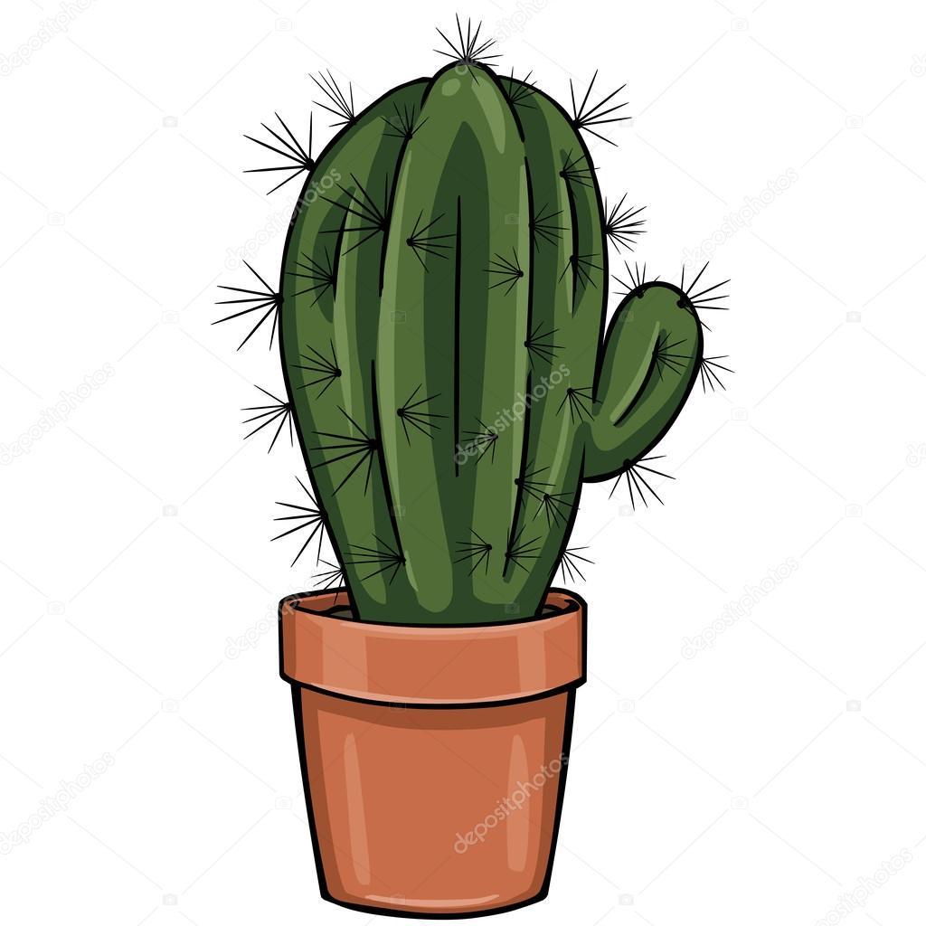 Tecknad Kaktus