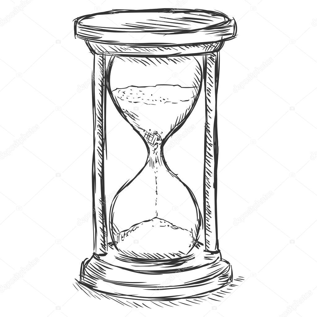 Тему, картинки песочные часы карандашом