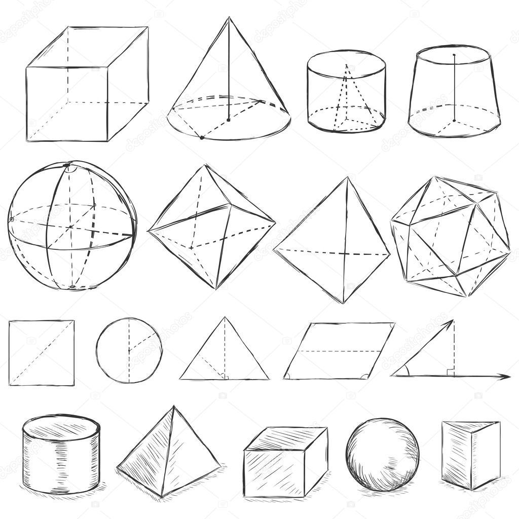 Herunterladen - Vektor-Reihe von schmutzigen Skizze geometrische ...