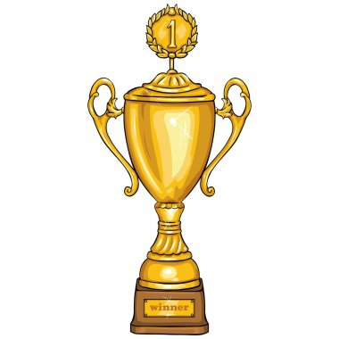 Vector Cartoon Golden Cup