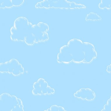 Seamless Pattern of Sketch Clouds