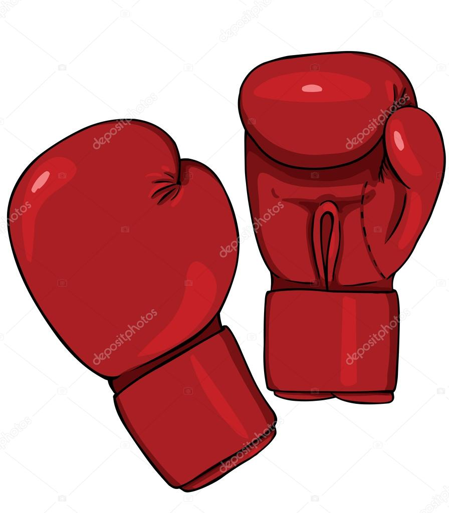 vector cartoon red boxing gloves stock vector nikiteev 45930969 rh depositphotos com boxing glove vector free boxing glove vector free
