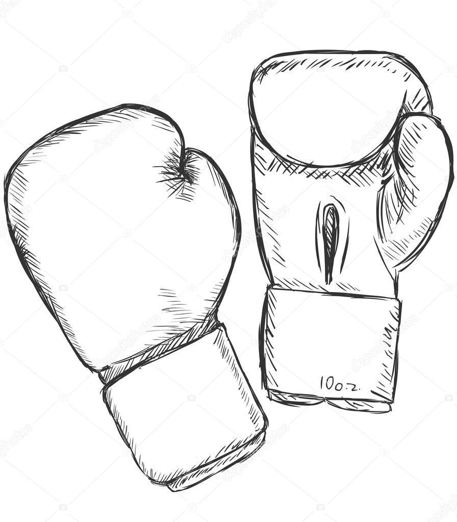 vector sketch boxing gloves stock vector 45930983