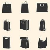 Vektor sadu ikon, nákupní tašky