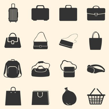Vector Set of Bags Icons