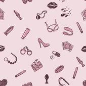 Photo Seamless Sex Shop Pattern